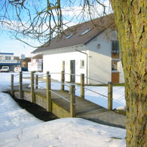 Musterhaus im Winter
